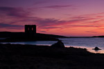 Sunset on North Uist, Scolpaig Tower